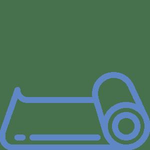 tapis de yoga icône